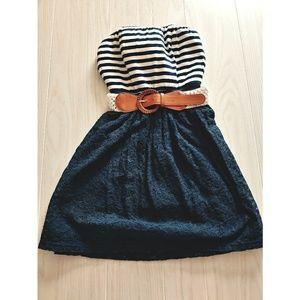 Rachel & Chloe belted strapless dress size s